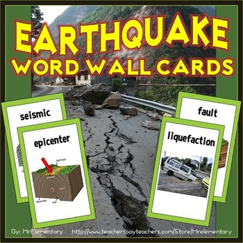 Earthquake Vocabulary Illustrated Word Wall