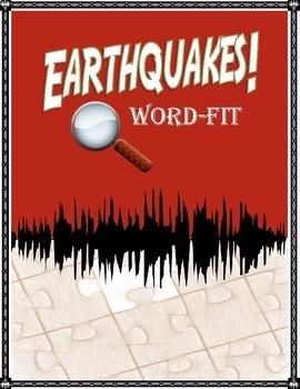 Earthquake Vocabulary WordFit puzzle