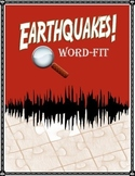 Earthquake Vocabulary Review WordFit puzzle; Earth Science