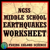 Earthquake Worksheet (Middle School) NGSS Earth Science MS-ESS2-2 MS-ESS3-2