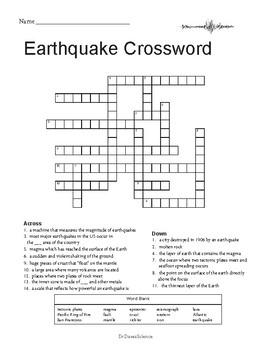 Earthquake Worksheet Packet
