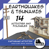 Earthquake and Tsunami Activities and Foldables - 14 contract activities