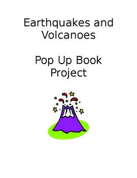 Earthquake and Volcano Pop Up Book