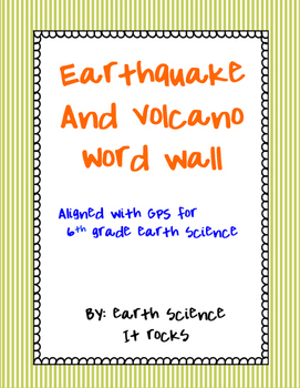 Earthquake and Volcano Word Wall