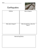 Earthquake graphic organizer