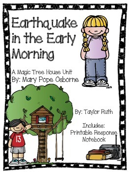Earthquake in the Early Morning: A Magic Tree House Unit (25 Pages)