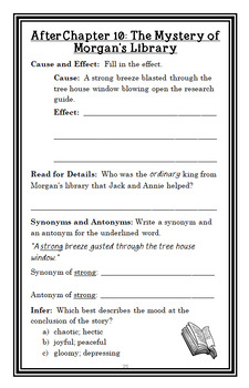 Earthquake in the Early Morning: Magic Tree House #24 (Osborne) Novel Study