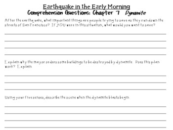 Earthquake in the Early Morning by Mary Pope Osborne:  A Complete  Novel  Study!