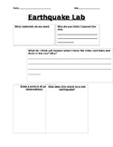 Earthquake lab sheet