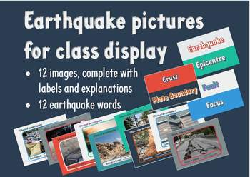 Earthquake pictures for class display