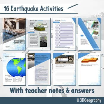 Earthquake worksheets complete with answers