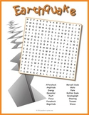 Earth Science Worksheet - Earthquake Word Search Puzzle
