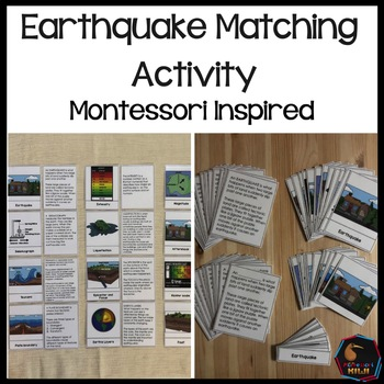 Earthquake Vocabulary cards by Montessorikiwi