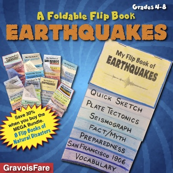 Earthquakes A Flip Book Foldable Of Natural Disasters