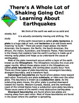 Earthquakes - A Whole Lot of Shaking Going On!