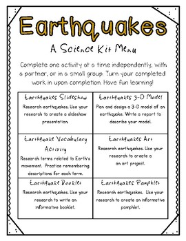 Earthquakes Activities