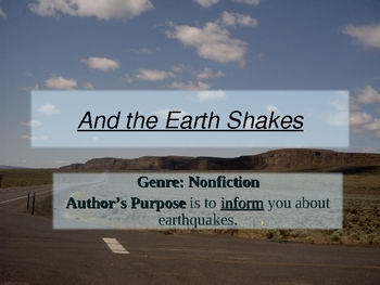 Earthquakes: And the Earth Shakes