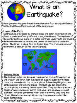 Earthquake bundle lesson plans activities worksheets by for Where do you go in an earthquake