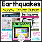 Earthquakes Bundle: Print, for Google Slides, and Boom Cards