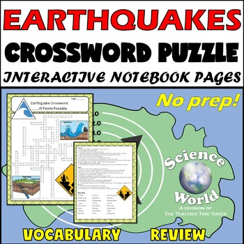 Earthquakes Crossword Puzzle Printable