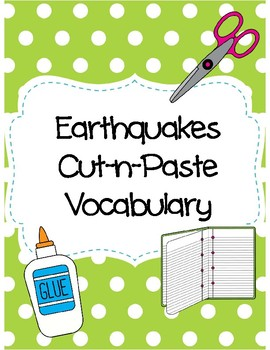 Earthquakes Cut-n-Paste Vocabulary