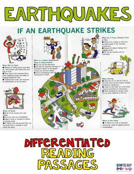 Earthquakes Differentiated Nonfiction Reading Passages