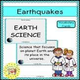 Earthquakes Vocabulary Cards