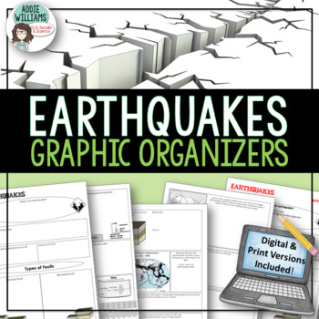Worksheets Graphic Organizer For The Topic Faults earthquakes faulting graphic organizer by addie williams organizer