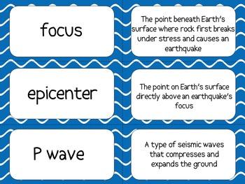 Earthquakes Flash Cards