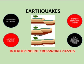 Earthquakes: Interdependent Crossword Puzzles Activity