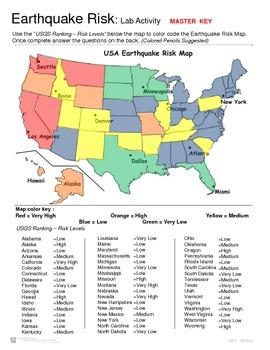 Earthquakes - Lab Activity - Earthquake Risk