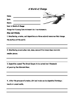 Earthquakes  McGraw Hill Wonders Unit 1 4th Grade