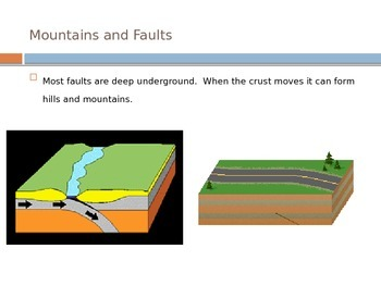 Earthquakes - Mountains and Faults