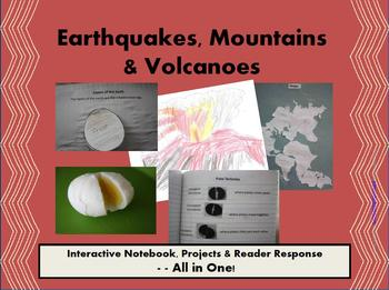 Earthquakes,Mountains& Volcanoes:Interactive Notebook,Proj