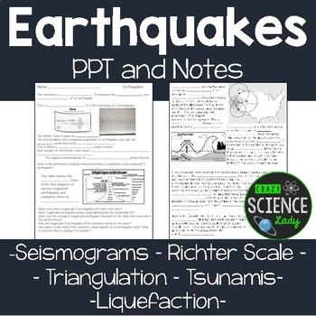 Earthquakes: PPT and Notes on terminology