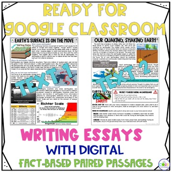 Earthquakes Paired Texts: Writing Informational Explanatory Essays