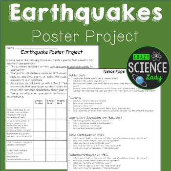 Earthquakes: Poster Project