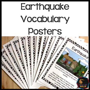Earthquakes Vocabulary Posters By Montessorikiwi