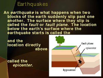 Earthquakes Power Point Presentation