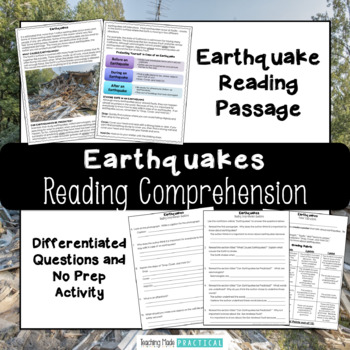 Earthquakes Reading Comprehension with Differentiated Questions