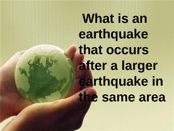 Earthquakes Review Game Earth Science is Fun!!!