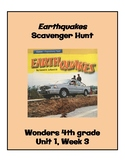 Earthquakes Scavenger Hunt (4th Grade Wonders; Unit 1, Week 3)
