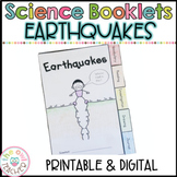 Earthquakes Investigation Tabbed Booklet