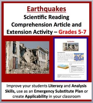 Earthquakes - Scientific Reading Comprehension Article – Grades 5-7