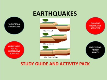 Earthquakes:  Study Guide and Activity Pack