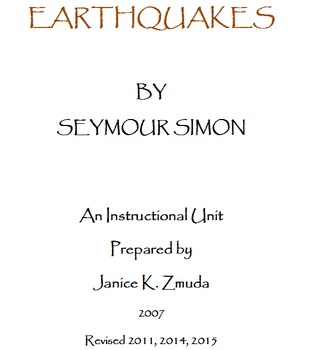Earthquakes Study and Test-taking Practice Unit