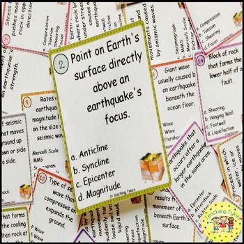 Earthquakes Task Cards