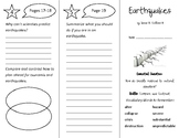 Earthquakes Trifold - Wonders 4th Grade Unit 1 Weeks 1-2 (2020)