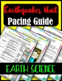Earthquakes & Seismic Waves Pacing Guide- Earth Science {FREE}