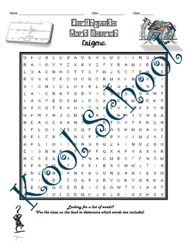 Earthquakes Word Search Enigma